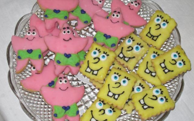 Μπισκότα αυγόγλασου Spongebob & Patrick!